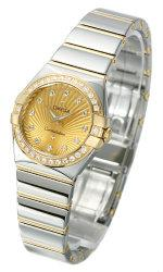 Omega Constellation Polished Quarz Mini Stahl Gelbgold