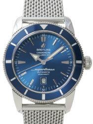 Breitling Superocean Heritage 46 Herrenuhr Stahl Zifferblatt blau
