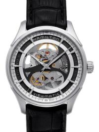 Hamilton Jazzmaster Viewmatic Skeleton Gents Herrenuhr Stahl Skelettierung