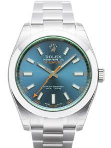 Rolex Milgauss Edelstahl Zifferblatt blau 116400 GV
