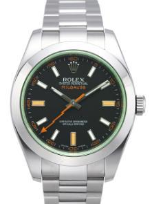 Rolex Milgauss Edelstahl Zifferblatt schwarz 116400 GV