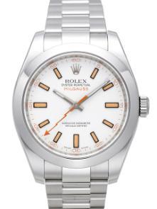 Rolex Milgauss Edelstahl Zifferblatt weiß 116400 (1)