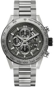 Tag Heuer Carrera Calibre HEUER 01 Automatik Chronograph 45 mm Grey Phantom Titanium Skelettierung
