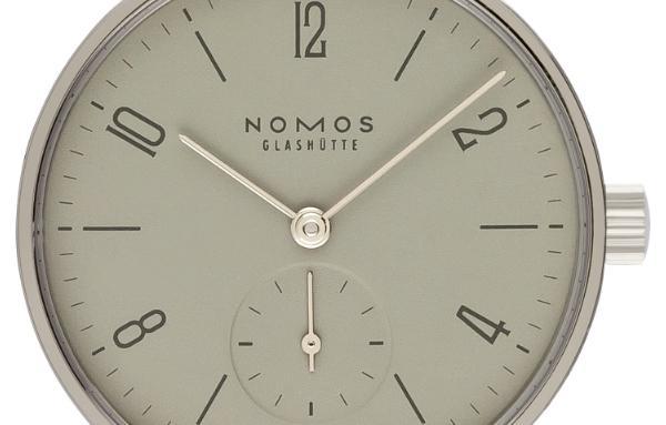NOMOS Glashütte Tangente 33 grau Version 125 Saphirglasboden Handaufzug 32,80 mm