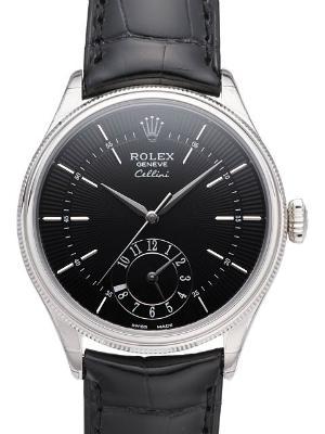 Rolex Cellini Dual Time Weißgold GMT Zweite Zeitzone