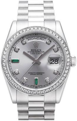 Rolex Day-Date Platin Brillantbesatz