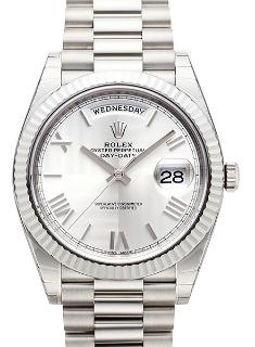 Rolex Oyster Perpetual Day-Date 40 Weissgold Praesident-Band
