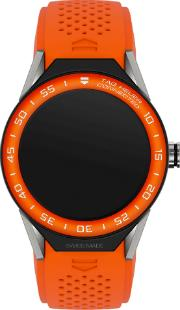 Tag Heuer Connected Modular 45 Kautschukarmband Orange