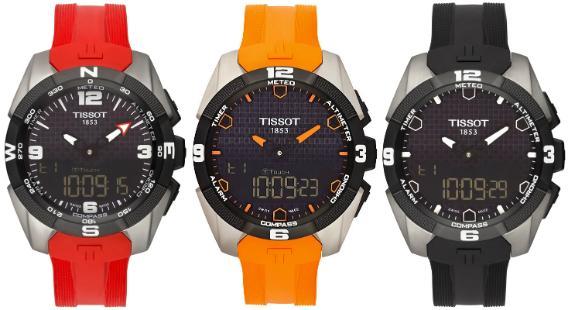 Tissot T-Touch Expert Solar Kautschukarmband Rot Orange Schwarz