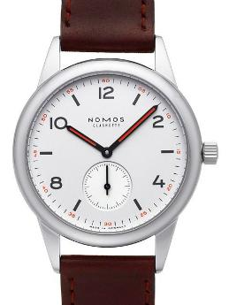 NOMOS Glashuette Club in der Version 701 mit Stahlboden