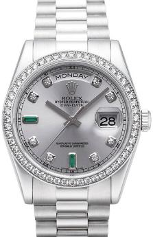 Rolex Oyster Perpetual Day-Date in der Version 118346 aus Platin