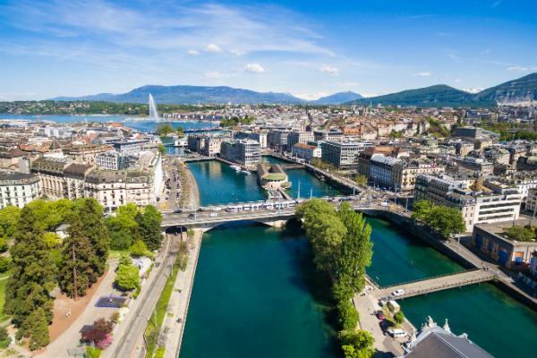 Genf Stadt in der Schweiz