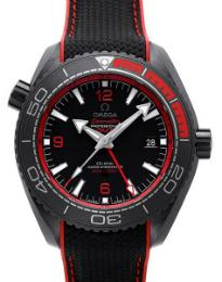 Omega Seamaster Planet Ocean 600 M Co-Axial Master Chronometer GMT 45,5mm Deep Black rot schwarz