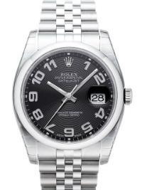 Rolex Datejust 36mm Zifferblatt schwarz