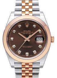 Rolex Datejust 41mm Brillantbesatz Zifferblatt braun