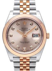Rolex Datejust 41mm Brillantbesatz Zifferblatt rose