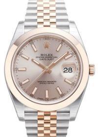 Rolex Datejust 41mm Leuchtindizes Zifferblatt silber