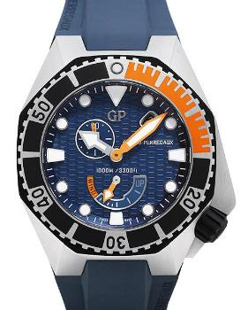 Girard Perregaux Sea Hawk Aufzug Automatik Zifferblatt blau
