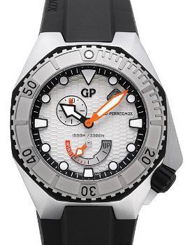 Girard Perregaux Sea Hawk Aufzug Automatik Zifferblatt silber