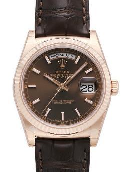 Rolex Day-Date in der Version 118135 mit braunem Zifferblatt