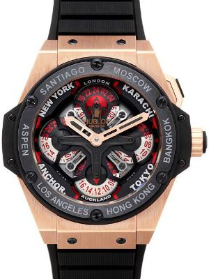 Hublot King Power 48mm UNICO GMT Keramik 18kt Rosegold