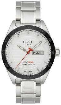 Tissot T-Sport PRS 516 Automatic mit silbernem Zifferblatt und Stahlband