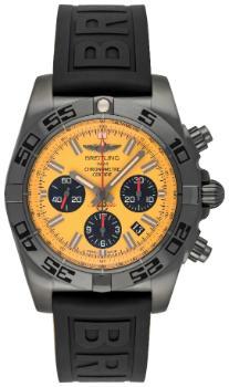 Breitling Chronomat 44 Blacksteel Zifferblatt gelb