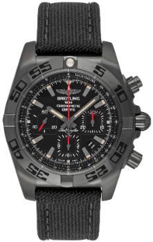 Breitling Chronomat 44 Blacksteel Zifferblatt schwarz