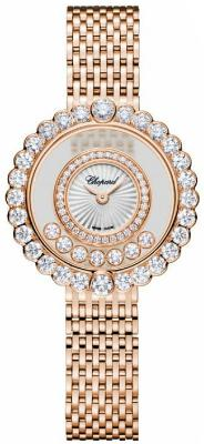 Chopard Happy Diamonds Icons Round Damenuhr 18kt Rosegold perlmutt