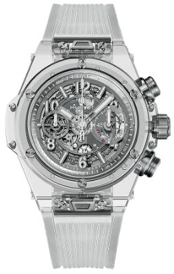 Hublot Big Bang Unico Sapphire 45mm Automatic Chronograph Limited Edition in der Version 411JX4802RT aus poliertem Saphirglas