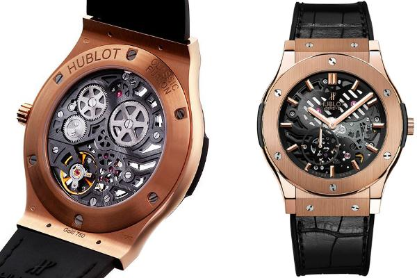 Hublot Classic Fusion 45mm Classico Ultra-Thin Skeleton Limited Edition in der Version 515OX0180LR