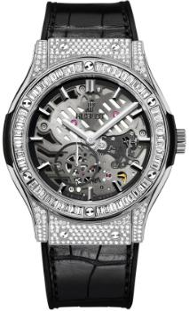 Hublot Classic Fusion 45mm Classico Ultra-Thin Skeleton in der Version 515NX0170LR0904