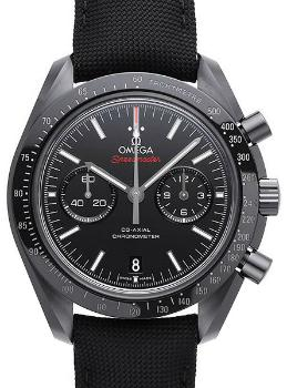 Omega Speedmaster Moonwatch Dark Side of the Moon Herrenuhr Textil schwarz Keramik