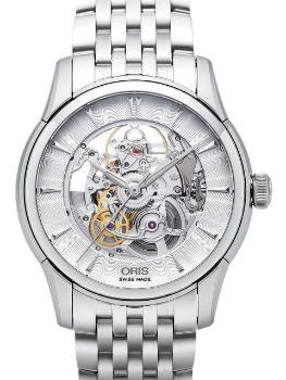 Oris Artelier Skeleton Herrenuhr Edelstahl transparent