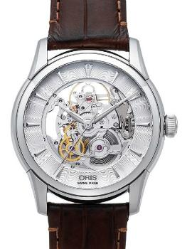 Oris Artelier Skeleton Herrenuhr Leder transparent