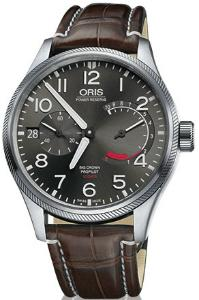 Oris Big Crown ProPilot Calibre 111 Band Leder Zifferblatt grau