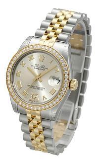 Rolex Datejust 31 Damenuhr Edelstahl 18kt Gelbgold silber