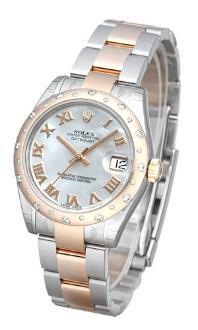 Rolex Datejust 31 Damenuhr Edelstahl 18kt Rosegold perlmutt