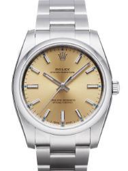 Rolex Oyster Perpetual 34 Herrenuhr Edelstahl Zifferblatt champagner
