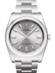 Rolex Oyster Perpetual 36 Herrenuhr Edelstahl Zifferblatt silber