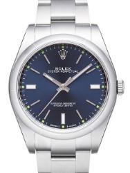 Rolex Oyster Perpetual 39 Damenuhr Herrenuhr Edelstahl Zifferblatt blau