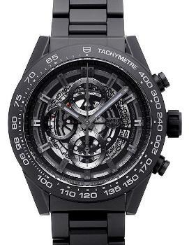 Tag Heuer Carrera Calibre HEUER 01 Automatik Chronograph 45mm Herrenuhr Keramik schwarz