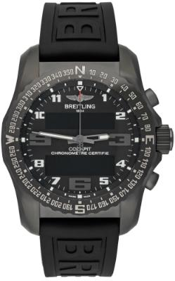 Breitling Cockpit B50 Herrenuhr Kautschuk schwarz