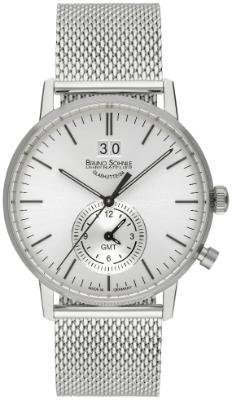 Bruno Soehnle Herrenuhr Stuttgart GMT in der Version 17-13180-240 Zifferblatt silber