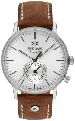 Bruno Soehnle Herrenuhr Stuttgart GMT in der Version 17-13180-247 Zifferblatt silber