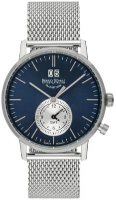 Bruno Soehnle Herrenuhr Stuttgart GMT in der Version 17-13180-340 Zifferblatt blau