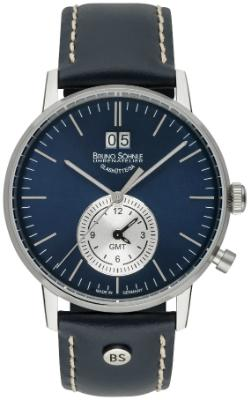 Bruno Soehnle Herrenuhr Stuttgart GMT in der Version 17-13180-341 Zifferblatt blau
