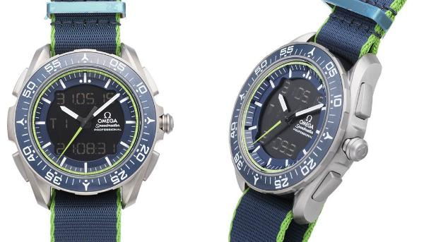 Omega Speedmaster Skywalker X-33 Chronograph 45mm Limited Edition Herrenuhr Textil blau