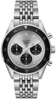 Tag Heuer Autavia Calibre HEUER 02 Automatic Chronograph 42mm Jack Heuer Special Edition Edelstahl-Band