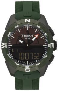 Tissot T-Touch Expert Solar II Solaruhr Zifferblatt schwarz Gehaeuse Titan Band Kautschuk